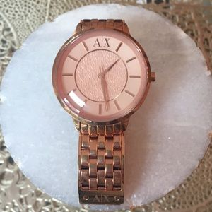 Beautiful Rose Gold Armani Exchange Watch 🥀